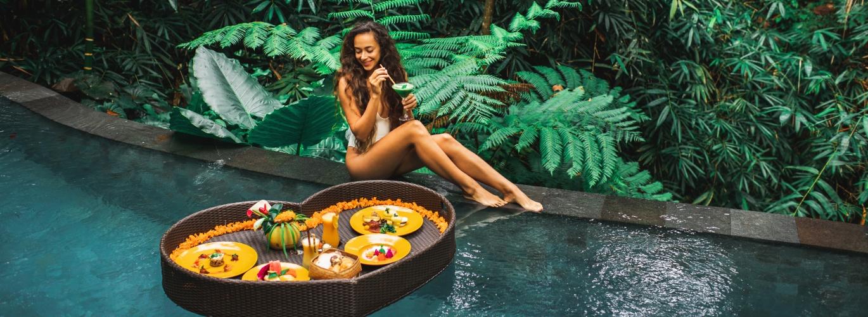 girl in bali hotel
