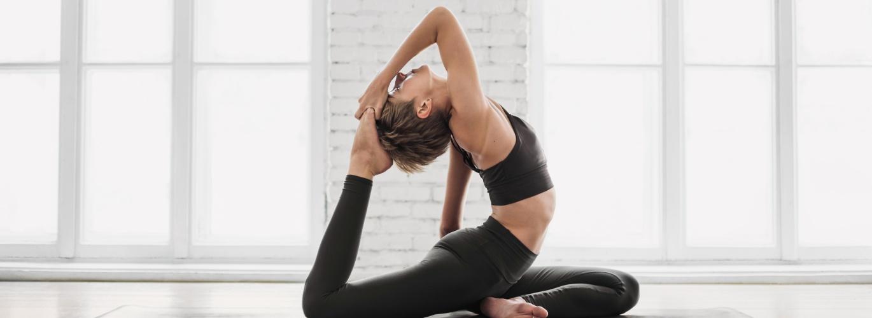 yoga girl pose white background